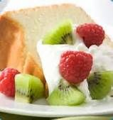 braces friendly foods - Angel Food Cake and Fruit