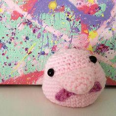 Blobfish! Blobfish, Weird Fish, Dragon Sketch, Fishing Gifts, Yarn Crafts, Knit Crochet, Hello Kitty, Dinosaur Stuffed Animal, Super Cute