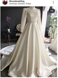 Wedding Dress Bustle, Muslimah Wedding Dress, Muslim Wedding Dresses, Diy Wedding Dress, Evening Dresses For Weddings, Prom Outfits, Bridal Outfits, Long Tight Prom Dresses, Elegant Ball Gowns