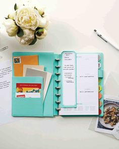 Get back to routine with Martha's collection of customizable notebooks from Staples! The junior size fits comfortably into a medium-size purse to keep you moving from meeting to meeting!