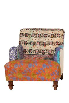 One of a Kind Vintage Kantha Blanket Arm Chair » This chair is awesome, I absolutely want it!