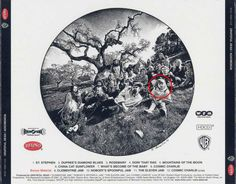 """Back cover of """"Aoxomoxoa.""""  This is one way in which I remember the 1960's - outside absorbing nature. : )"""