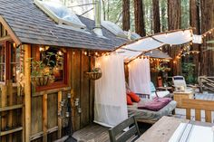 This tiny cabin is the perfect fall retreat, nestled among the redwoods outside San Francisco.