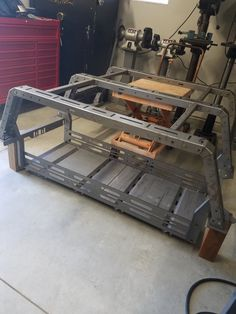 Click this image to show the full-size version. Truck Bed Bike Rack, Truck Roof Rack, Truck Bed Storage, Overland Gear, Overland Truck, Expedition Truck, Camping Trailer Diy, Truck Camping, Custom Truck Beds