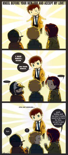 Kneel Dean...Supernatural funny...