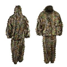 3D Camouflage Hunting Clothes Ghillie Suit Woodland Jungle Tactical Army Sniper Suit For Hunting Set Kit Shirt
