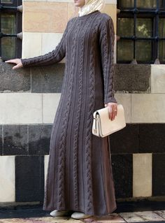 SHUKR Classic Cable Knit dress- simple and cozy!