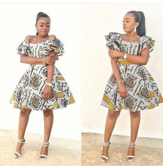 The complete pictures of latest ankara short gown styles of 2018 you've been searching for. These short ankara gown styles of 2018 are beautiful African Dresses For Women, African Print Dresses, African Attire, African Wear, African Women, Latest Ankara Short Gown, Ankara Short Gown Styles, Kente Styles, Short Gowns
