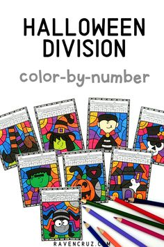 These Halloween color by number worksheets for division are a great way for students to practice division facts this fall season. Your 3rd and 4th grade math students will love this fun math activity! #mathwithraven Halloween Division, Halloween Math, Halloween Activities, Fun Math Activities, Math Resources, Halloween Color By Number, Common Core Math Standards, Math Division, Number Worksheets