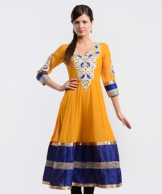 Enhance your charm and elegance with veritaas fashion as it brings to you this colourful collection of kurtis and more. Featuring marvelous designs, prints and colours, this line-up will highlight your high taste in style and fashion.BRAND: LavennderCATEGORY: KurtaCOLOUR: Mustard and BlueMATERIAL: Faux GeorgetteSIZE: This product conforms to the standard brand sizing. For your shopping convenience.