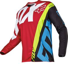 2017 FOX Racing MX Motocross 360 Creo Jersey Red Black Men's -- Awesome products selected by Anna Churchill