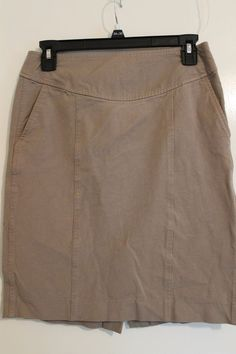 21a4d388f5 BANANA REPUBLIC Women's Stretch Skirt Beige Size 4 Very Flattering and  Stretchy #fashion #clothing