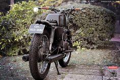 """My Yamaha RDX 125 Scrambler 1976. Customised by """"Iron Bike Kustom"""". France."""