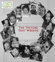 "Great way to display your childs photos in a nursery or at a birthday party!  ~Goodness Gathering: ""Picture This"" Wreath"