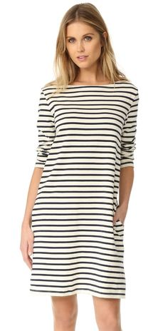 Petit Bateau Hannah Long Sleeve Striped Dress | SHOPBOP