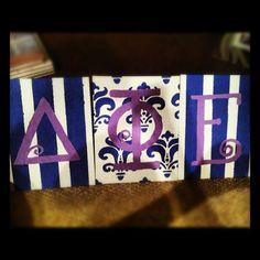 Fancy Greek letters #dphie #purple #deltaphiepsilon