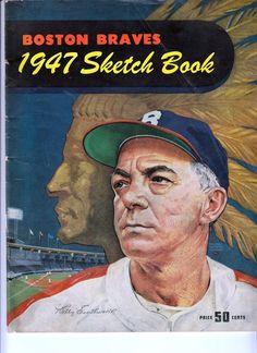 c4b92767ac7 1947 Boston Braves Yearbook Sketchbook Original   Authentic Good Shape