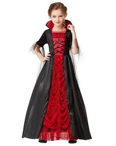 Victorian Vampiress Girls Costume -Scarlett