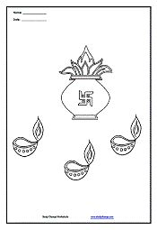 Diwali Coloring Page 1 Diwali, Social studies worksheets
