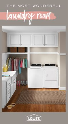Find The Best Set-Up For Your Laundry Room Situation By Shopping Today - Wash Smarter, Not Harder. Mudroom Laundry Room, Laundry Room Remodel, Laundry Room Organization, Laundry Room Design, Laundry In Bathroom, Laundry Area, Design Kitchen, Bathroom Beach, Small Laundry