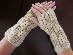 Patrones Crochet, Manualidades y Reciclado: GUANTES SIN DEDOS PASO A PASO CON VÍDEO TUTORIAL