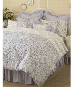french blue and yellow comforter sets by Laura Ashley | country ... : laura ashley king quilt - Adamdwight.com