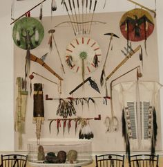 Native American Artifacts in Jefferson's Home.