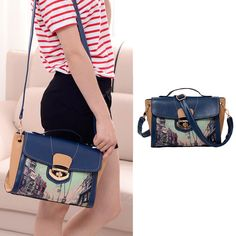 Nowadays,many girls like such vintage and retro PU leather #shoulderbags which is korean fashion and simple. It's fashion and classic as a  very useful accessory brighten up your look. Moreover, it can also be regarded as a good gift for your girlfriend and your close friend. Colorful painting print makes it look more unique,vintage and fashionable. I wish this #retroshoulderbag can bring you a beautiful day.