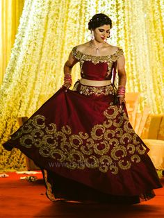 Marvelous Maroon Colored Lehenga Choli by Designer Dipika Thawani