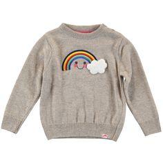 Rainbow Jacquard Knit Jumper / Oatmeal