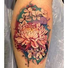 【amy_kinsell_tattoos】さんのInstagramをピンしています。 《Sarah sat amazingly for her…