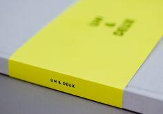UN & DEUX by David Tremblay, via Behance
