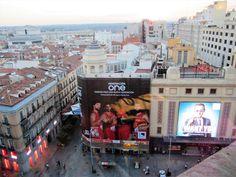 Madrid. 31 Agosto 2014. Vista desde la terraza de El Corte Inglés en Plaza de Callao.