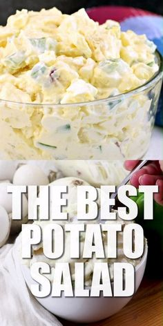 Potato Salad recipe made the old fashioned way with a few simple ingredients. On… Potato salad recipe made with a few simple ingredients. One bite and you'll know why this classic dish is a hit at every holiday and potluck! Homemade Potato Salads, Best Potato Salad Recipe, Easy Salad Recipes, Easy Salads, Potato Recipes, Southern Potato Salad Recipe Paula Deen, Puerto Rican Potato Salad Recipe, Russet Potato Salad Recipe, Redskin Potato Salad