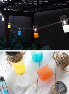 DIY Solar Lanterns | Click Pic for 24 DIY Garden Lighting Ideas | DIY Outdoor Lighting Ideas