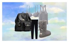 Day 1 Travelling by aurorahart on Polyvore featuring Victoria's Secret, UGG Australia, Coach, women's clothing, women's fashion, women, female, woman, misses and juniors