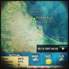 Buenos días a todos #feliz #martes se espera para hoy un #día algo #fresco para la zona conurbada #Veracruz #BocaDelRío en este momento tenemos 23•C y se espera que la máxima sea de 26•C así que a disfrutar de este día http://www.turismoenveracruz.mx #weather #clima #sol #nublado #nubes #sky #pic #México