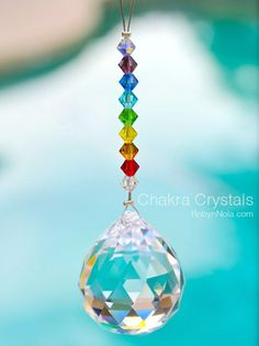 Chakra Crystal Sun Catcher and Color Therapy Cards Gift Set Chakra Crystals, Swarovski Crystals, Chakras, Chakra Colors, Hanging Crystals, Sun Catcher, Inspirational Gifts, Bead Crafts, Wind Chimes