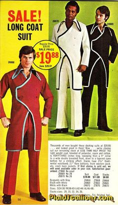 accessories Plaid Stallions : Rambling and Reflections on pop culture: Long Coat Sale! Fashion 90s, Retro Fashion, Vintage Fashion, Mens Fashion, Ugly Outfits, Moda Emo, Coat Sale, Retro Advertising, Studio 54