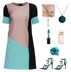 """3tone dress"" by im-karla-with-a-k ❤ liked on Polyvore featuring Lattori, Qupid, MAC Cosmetics, Brother Vellies and Balenciaga"
