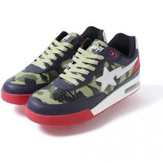 Chris Brown's Supper Club Billionaire Boys Club Logo Varsity Jacket and Bape 1st Camo Road Star Sneakers