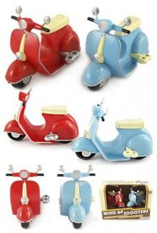Retro Scooters Wind Up Vespa Set of 2 | Toys for Girls Room | Bluw Ltd. |870452006215