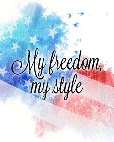 My freedom, my style.