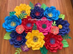 Your place to buy and sell all things handmade Large Flowers, Silver Flowers, Colorful Flowers, Backdrop Decorations, Flower Decorations, Backdrops, Paper Flower Decor, Paper Flowers, Luau Birthday