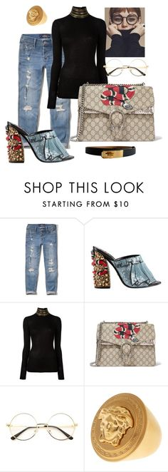 """""""Cozy time"""" by norathelemon ❤ liked on Polyvore featuring Hollister Co., Gucci, Pierre Balmain, Versace and Hermès"""