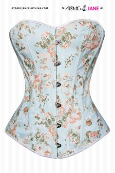 The Atomic Floral Fantasy Burlesque Corset is a gorgeous blue #FloralCorset that can be worn with any skirt or pants. Burlesque Dress, Pretty Outfits, Cute Outfits, Corsets Online, Corset Outfit, Plus Size Corset, Jane Clothing, Overbust Corset, Lingerie