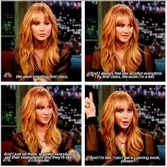 I LOVE JENNIFER LAWRENCE. Exactly how I felt first time I flew first class lol !