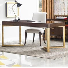 Crestaire-Vincennes Writing Desk in Porter - 436-15-04