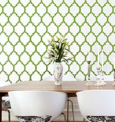 How to Stencil Walls, like a pro -Cutting Edge Stencil wall. by @Eclectically Vintage