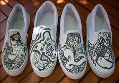 cool design shoes | Incredible Custom Shoes Designs